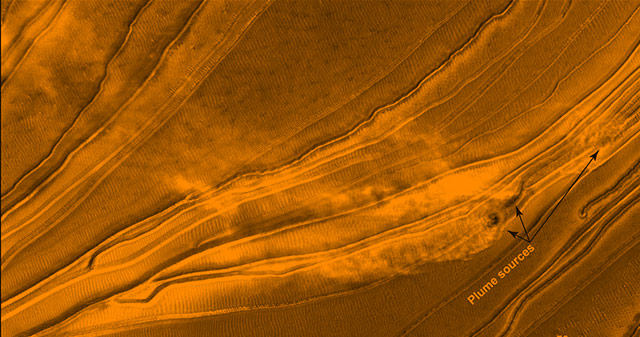 SwRI SCIENTIST CAPTURES EVIDENCE OF DYNAMIC SEASONAL ACTIVITY ON A MARTIAN SAND DUNE