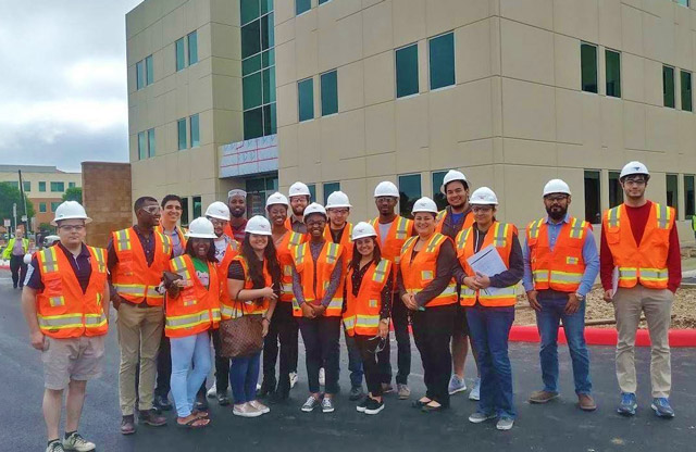UTSA students tour one of the Port's assets, Project Tech.