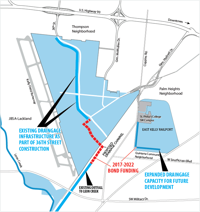 map of infrastructure upgrades at Port San Antonio