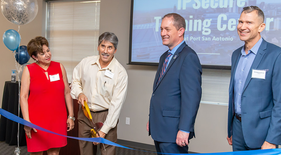 IPSecure ribbon cutting
