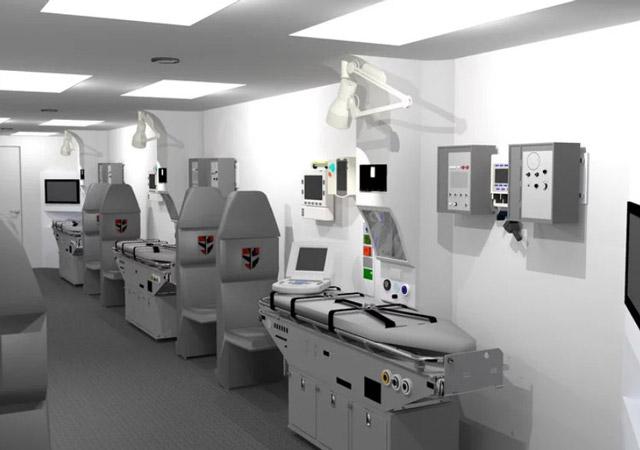 Interior Medical Module Cabin Knight Aerospace