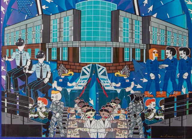 Artwork by Michael Menchaca Port San Antonio detail.